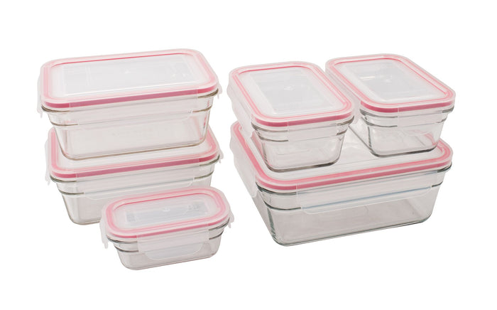 GLASSLOCK 6 Piece Oven Safe Tempered Glass Food Container Set
