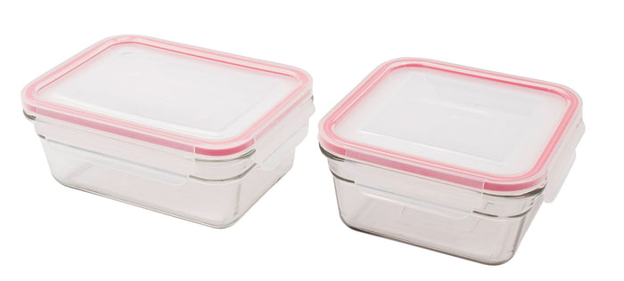 GLASSLOCK 2 Piece Oven Safe Food Container Set