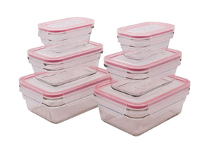 GLASSLOCK 6 Piece Rectangular Oven Safe Food Container Set