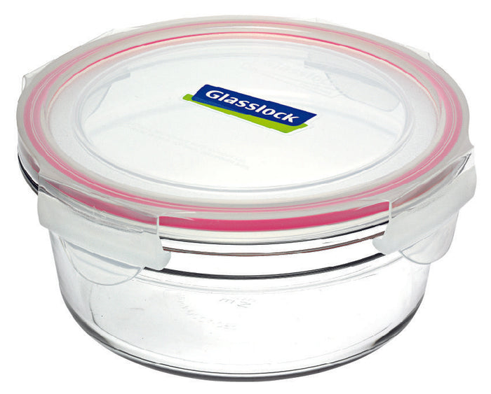 GLASSLOCK Round Oven Safe Glass Container 1480ml