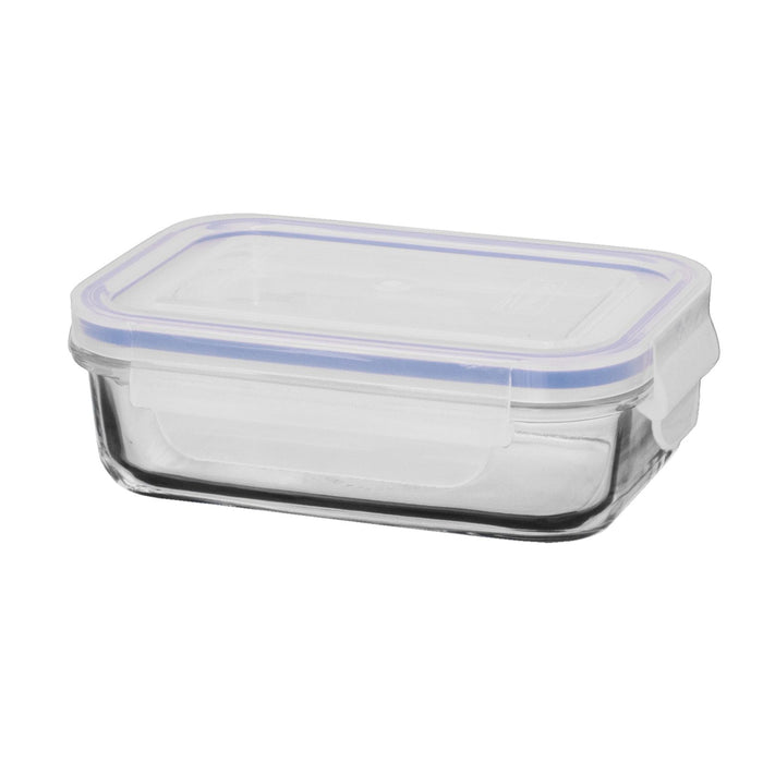 GLASSLOCK Rectangular Tempered Glass Food Container 400ml