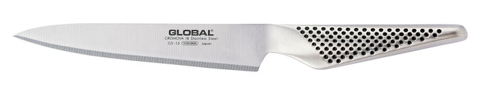 GLOBAL Utility Knife - Fine Serration Blade 15cm