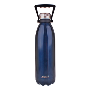 Oasis Hydration 1500ml stainless steel water bottle double wall insulated Handle