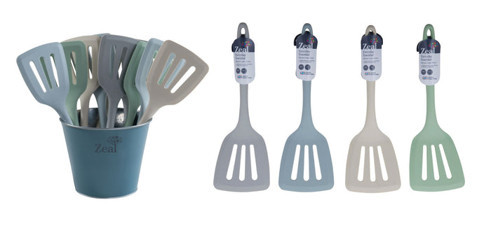 ZEAL CLASSIC SILICONE SLOTTED TURNER 4  COLOURS