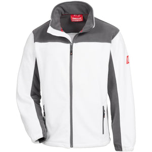 NITRAS Fleece Jacke Motion Tex Plus weiß / grau