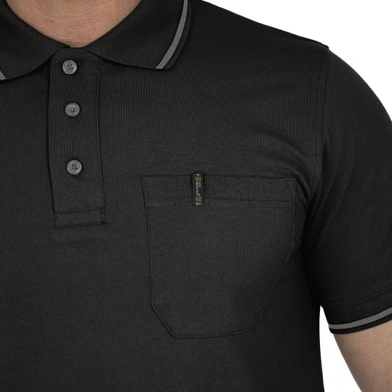 Polo Shirt Flexline schwarz