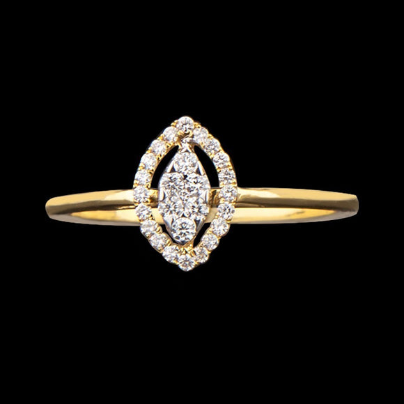 R6267 A - Dainty Marquise Band