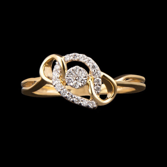R6851 - Looping Trio ring