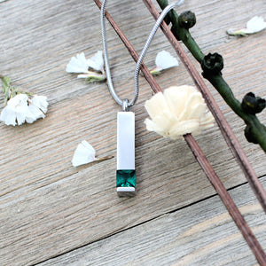 Birthstone Memorial Necklace