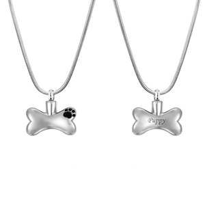 Dog Bone Pet Cremation Necklace - Anavia Personalized Jewelry & Gifts