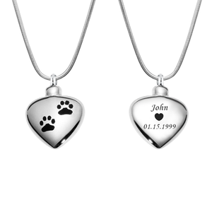 Personalized Dog Paw Heart Cremation Urn Necklace, Memorial Jewelry  Keepsake Ashe for Pets - Anavia Personalized Jewelry & Gifts