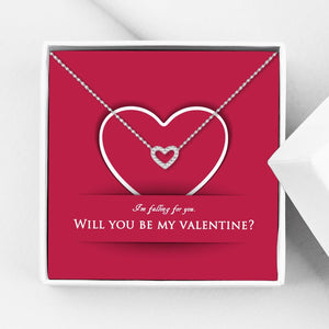 Will You Be My Valentine Heart Valentine's Day Gift Box