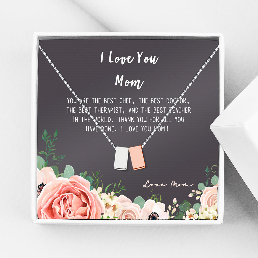 I Love You Mom Gift Necklace Thank you Gift for Mom - Anavia Personalized Jewelry & Gifts
