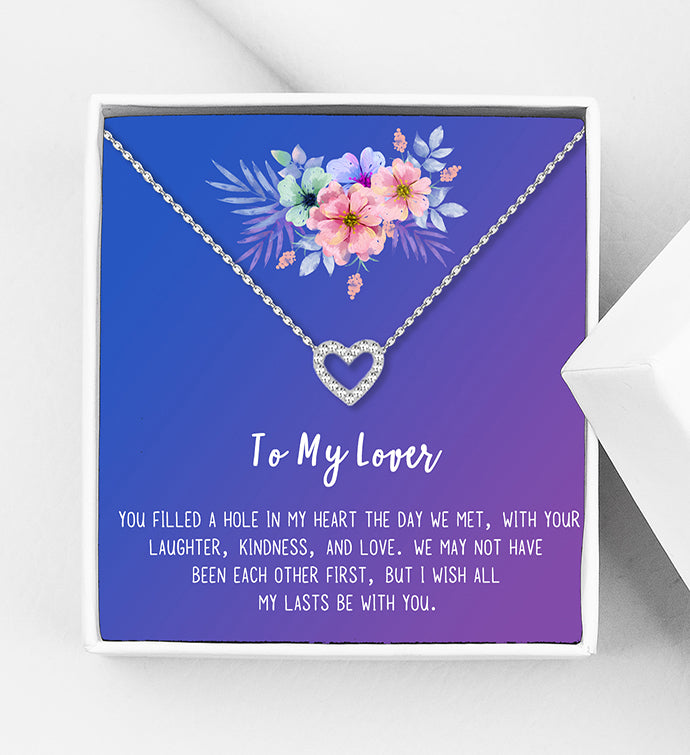To My Lover Motivational Gift Box - Heart Necklace - Anavia Personalized Jewelry & Gifts