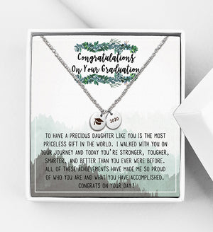 Congratulations On Your Graduation Class of 2020 Gift Box - Mini Disc Necklace - Anavia Personalized Jewelry & Gifts