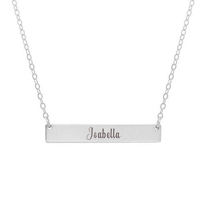 Personalized Horizontal Bar Name Necklace - Anavia Personalized Jewelry & Gifts
