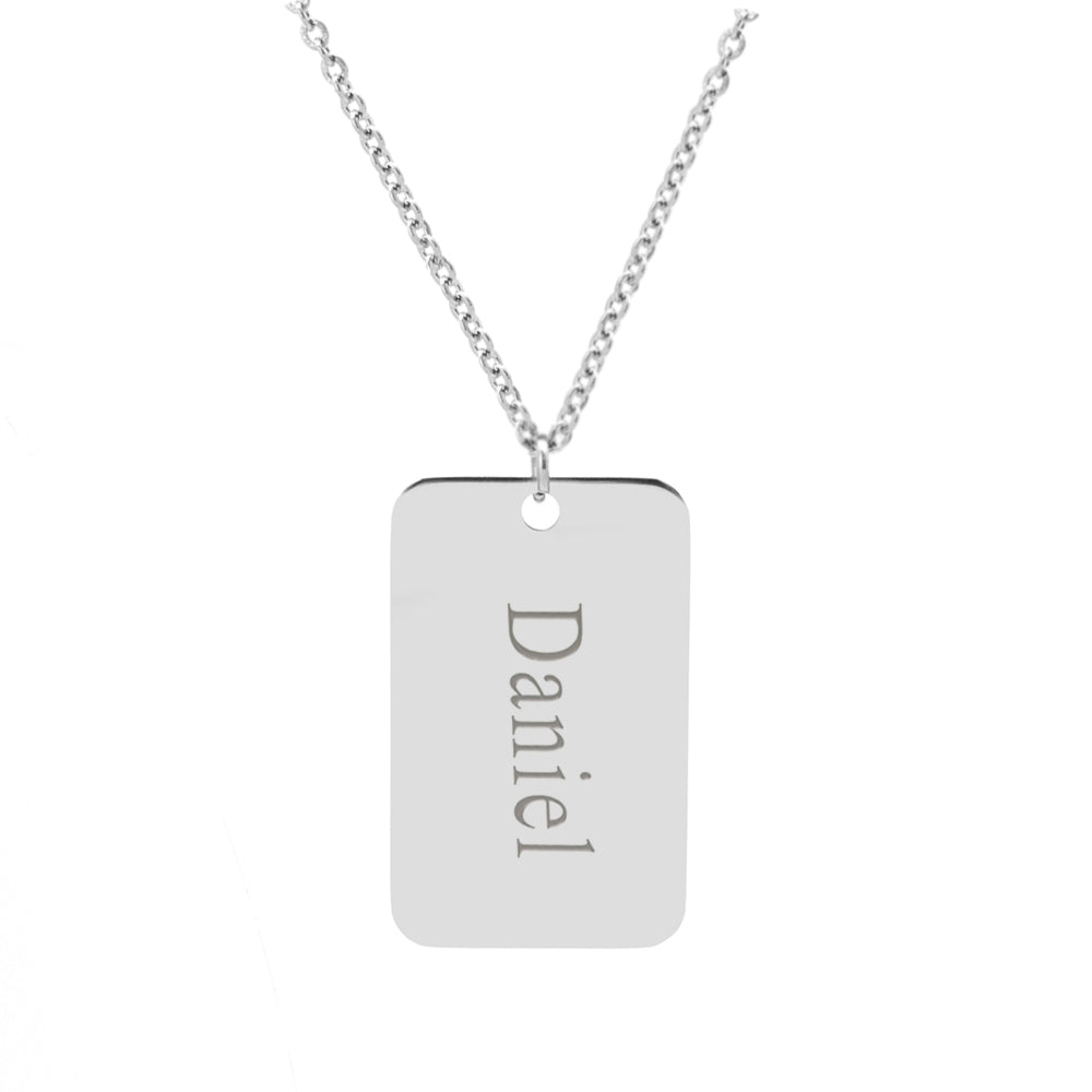Men's Dog Tag Necklace Custom ID Necklace - Anavia Personalized Jewelry & Gifts