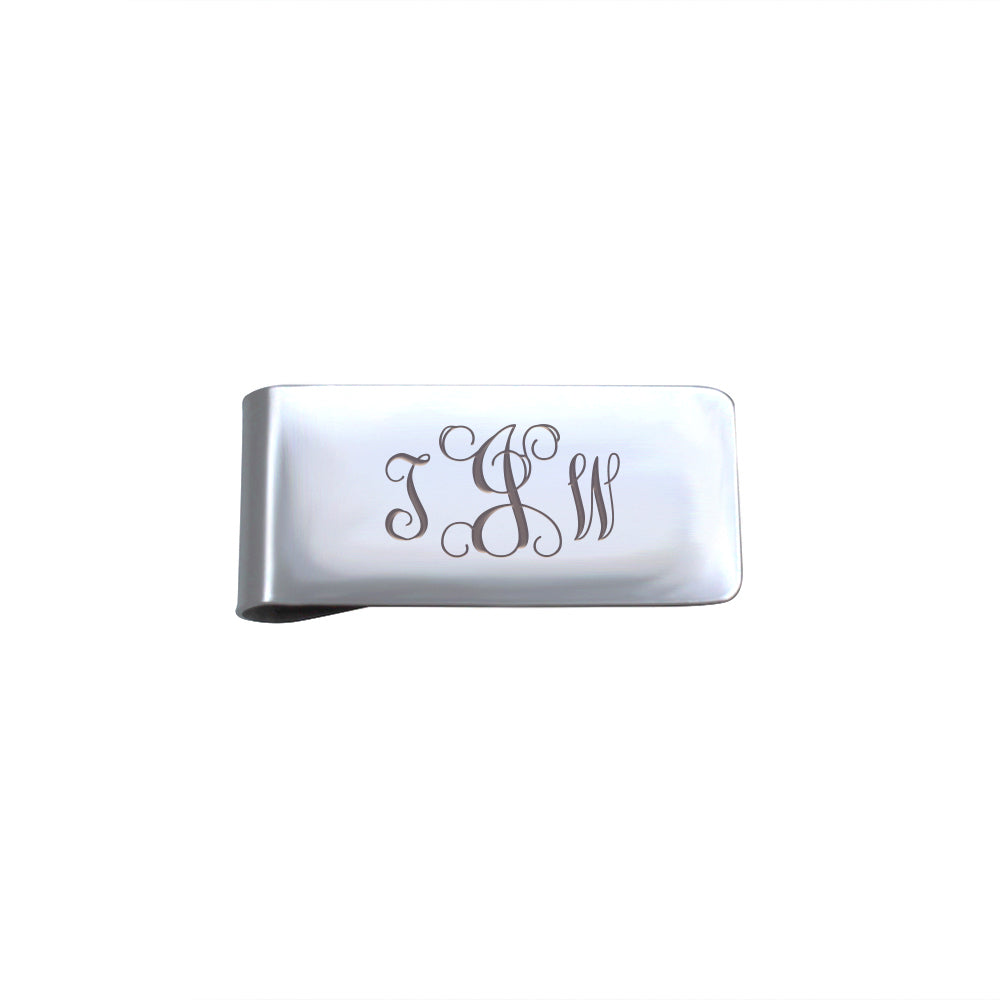 Monogram Initials Money Clip Credit Card Holder - Anavia Personalized Jewelry & Gifts