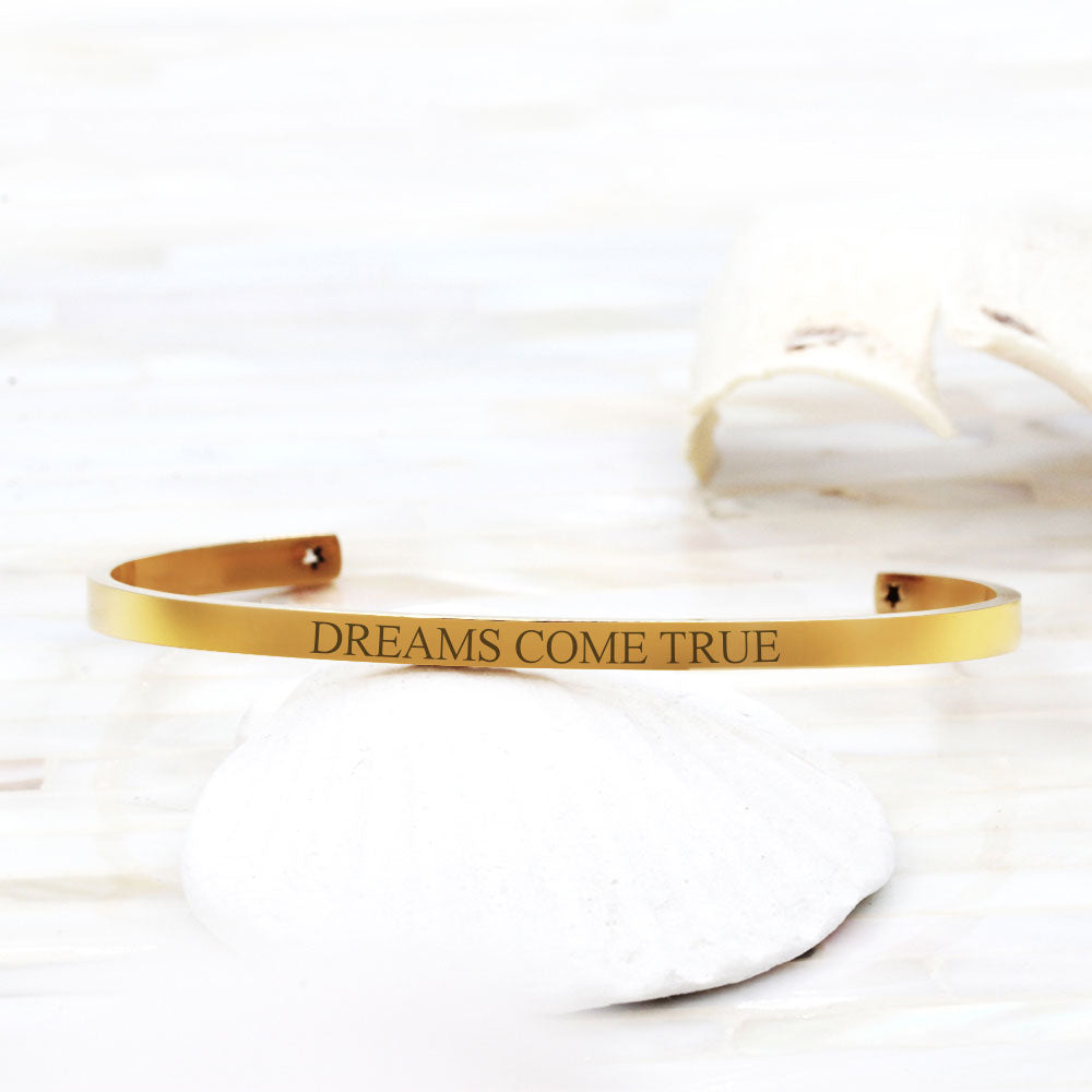 """Dreams Come True"" Cuff Bracelet Motivational Gift Box - Anavia Personalized Jewelry & Gifts"