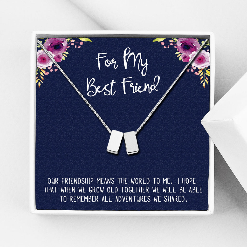 For My Best Friend Motivational Gift with Message Card - Anavia Personalized Jewelry & Gifts