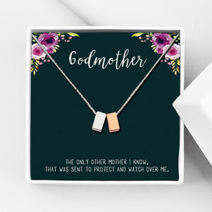 Godmother Motivational Gift Box - Cube Necklace - Anavia Personalized Jewelry & Gifts