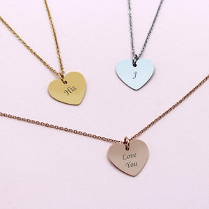 Personalized Heart Necklace Gift Box