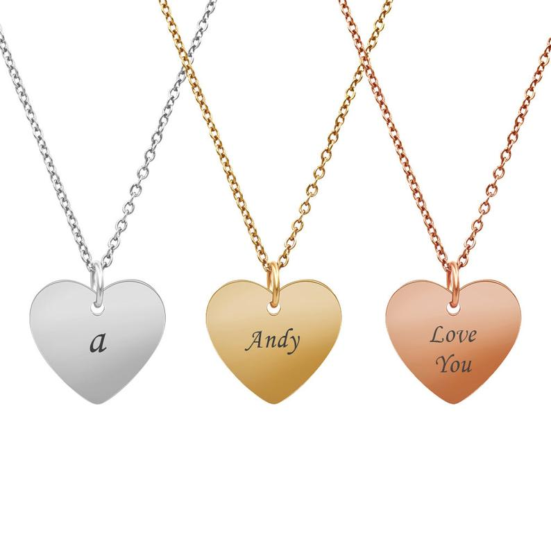 Personalized Heart Necklace Gift Box - Anavia Personalized Jewelry & Gifts