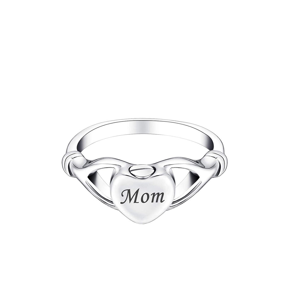 Custom Heart Cremation Urn Ring, Personalized Cremation Jewelry Memorial Ring for Ashes - Anavia Personalized Jewelry & Gifts