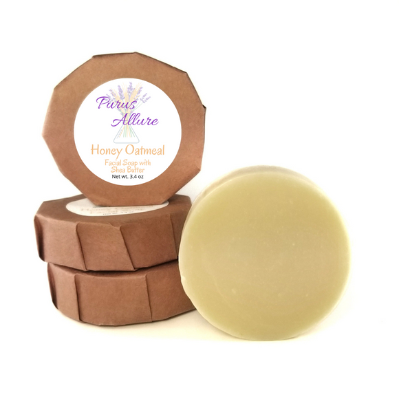 Honey Oatmeal Facial Soap with Shea Butter