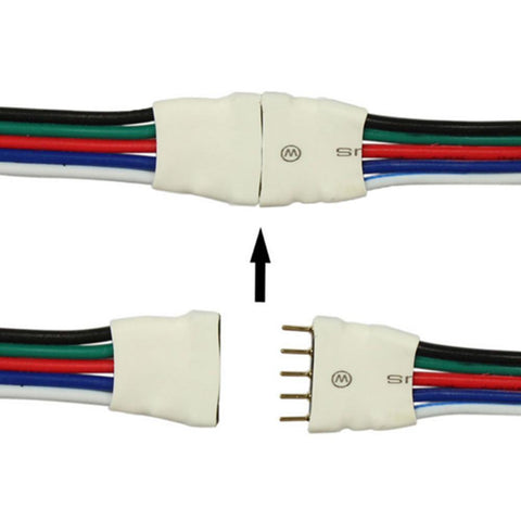 Image of 10pcs Pack (5Pair) 5pin RGBW/RGBWW LED Strip Connectors