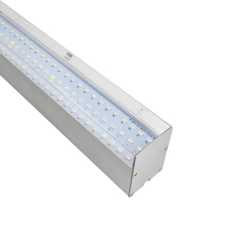 Image of 40W 16'' Full Spectrum Linear LED Grow Light Strip 6 Bands with IR & UV included, Adjustable Hanger, Idea for Greenhouse, Vegetables & Fruits, Horticulture, Propagation and City Farming