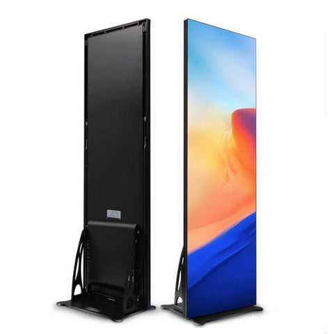 Image of EP Series 640x1920mm Indoor LED Poster Display with Acrylic Protective Cover Front Surface in 1.86 | 2.0 | 2.5mm Pixel Pitch with 640x1920mm Large Display Area