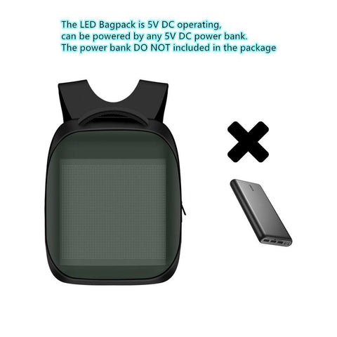 Image of 3rd New Generation Dynamic Displayed LED Backpack APP Controlled LED Advertising Bag