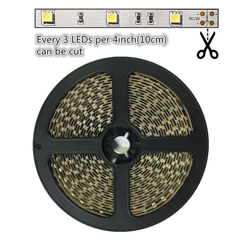 Image of DC 12V Red/Blue/Green/Yellow Dimmable SMD5050-150 Flexible LED Strips 30 LEDs Per Meter 10mm Width 450lm Per Meter