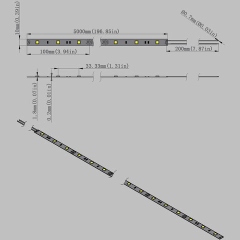 Image of DC 12V Dimmable SMD5050-150 Flexible LED Strips 30 LEDs Per Meter 10mm Width 450lm Per Meter