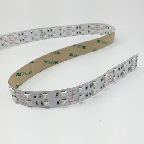 Image of DC 12V Dimmable SMD5050-600 Double Row Flexible LED Strips 120 LEDs Per Meter 15mm Width 1800lm Per Meter