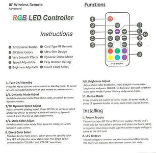 DC5-24V 12A RGB LED Dimmer Controller with Mini RF Wirelless 17keys Remote Controller for SMD5050 3528 RGB LED Strip Lights
