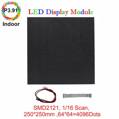 Image of M-ID3.91 P3.91 Rental Sereis LED Module,Full RGB 3.91mm Pixel Pitch LED Display Tile in 250*250mm with 4096 dots, 1/16 Scan, 800 Nitsfor indoor Display