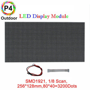 M-OD4 P4 Normal Outdoor Series LED Module,Full RGB 4mm Pixel Pitch LED Tile in 256*128mm with 2048 dots, 1/8 Scan, 5000 Nits  for Outdoor Display