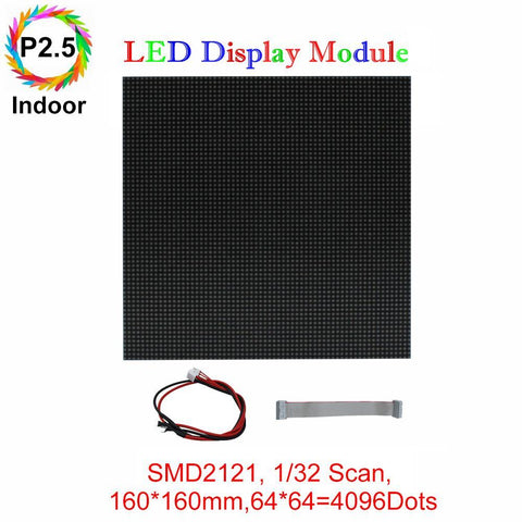 Image of M-ID2.5 P2.5 Normal Indoor Series LED Module,Full RGB 2.5mm Pixel Pitch LED Display Tilein with 4096 dots, 1/32 Scan, 800 Nitsfor indoor Display 160*160mm