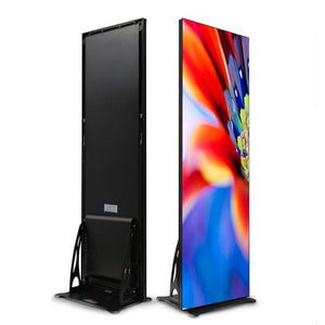 EP Series 480x1920mm Indoor LED Poster Display with Acrylic Protective Cover Front Surface in 1.86 | 2.0 | 2.5mm Pixel Pitch with 480x1920mm Slim Display Area