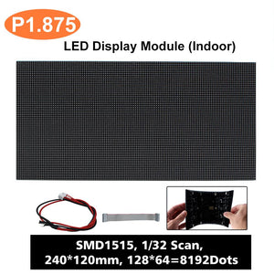M-SF1.8 (P1.875) Silicon Based LED Module, 1.875mm Full RGB Pixel Panel Screen in 240 * 120 mm with 8192 dots, 1/32 Scan, 800 Nits for Indoor Display