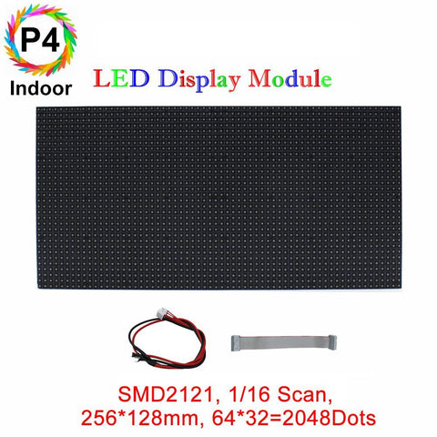 Image of M-ID4 P4 Normal Indoor Series LED Module,Full RGB 4mm Pixel Pitch LED Display Tile in 256*128mm with 2048 dots, 1/16 Scan, 800 Nitsfor indoor Display