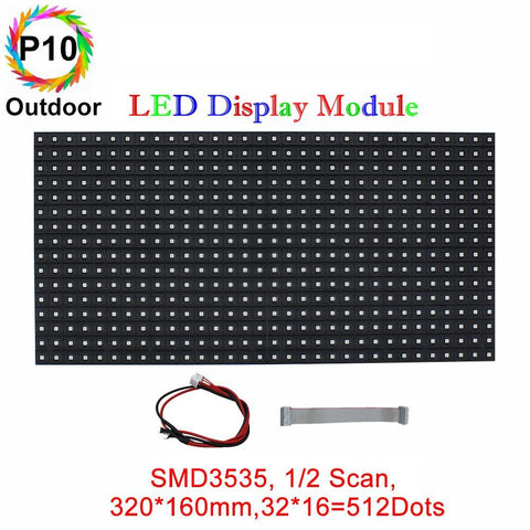 Image of M-OD10L P10 Normal Outdoor Series LED Module, Full RGB 10mm Pixel Pitch LED Tile in 320*164mm with 512 dots, 1/2 Scan, 5000 Nits  for Outdoor Display