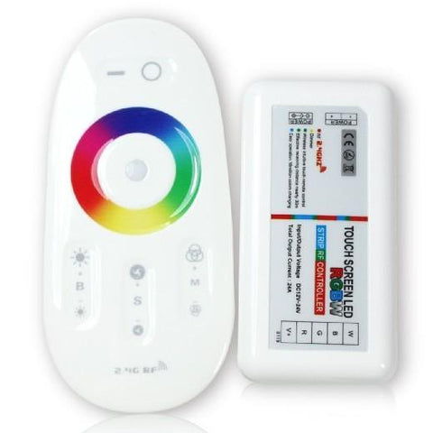 Image of RGBW 2.4G RF Wireless Remote Controller with Color Ring Touchable Remote for 12V or 24V RGBW / RGBWW Color LED Flexible Strip Lights