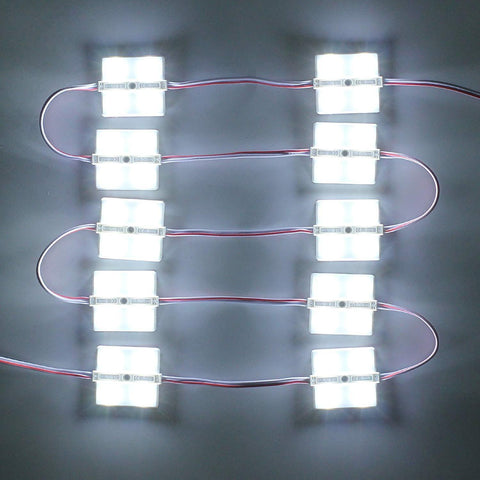 Image of 20pcs/pack LED Modules with SMD5730 4 LED DC12V 130-150LM 2W 160° Beam Waterproof IP67 with Adhesive Tape Back