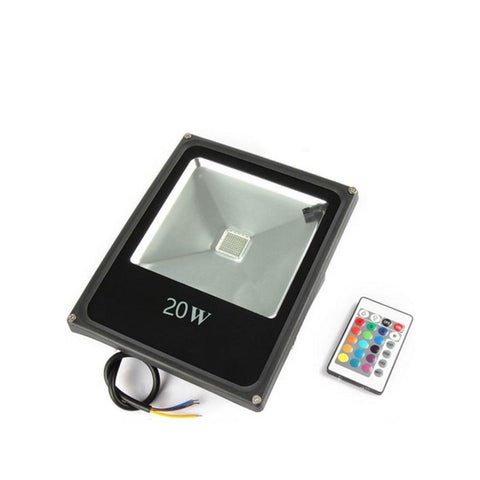 Image of RGB Color Changing LED Floodlight with Remote Controller IP65 Waterproof