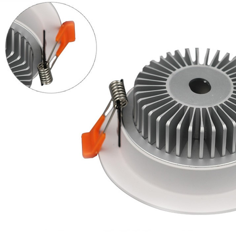 Image of LED Downlight 3W/5W/7W/9W/12W/15W/18W/24W CRI80 COB Fixed Head Flat Diffuser Ceiling Light-DXL Series