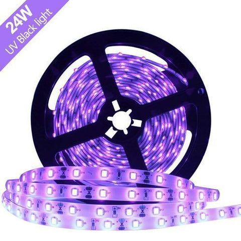 Image of 24 W 16.4FT/5M UV 3528 300LEDs 395nm-405nm  Night FishingLight LED Strip Sterilization implicitly Party
