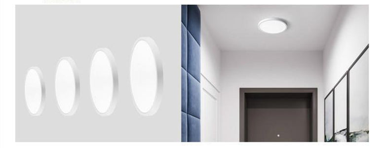 FREE SHIPPING Ultrathin Radar Sensor Modern LED Ceiling Light 12W/18W/24W 2.4*18/23/30 cm (H* Diameter) 110V~220V for Kitchen Bedroom Bathroom